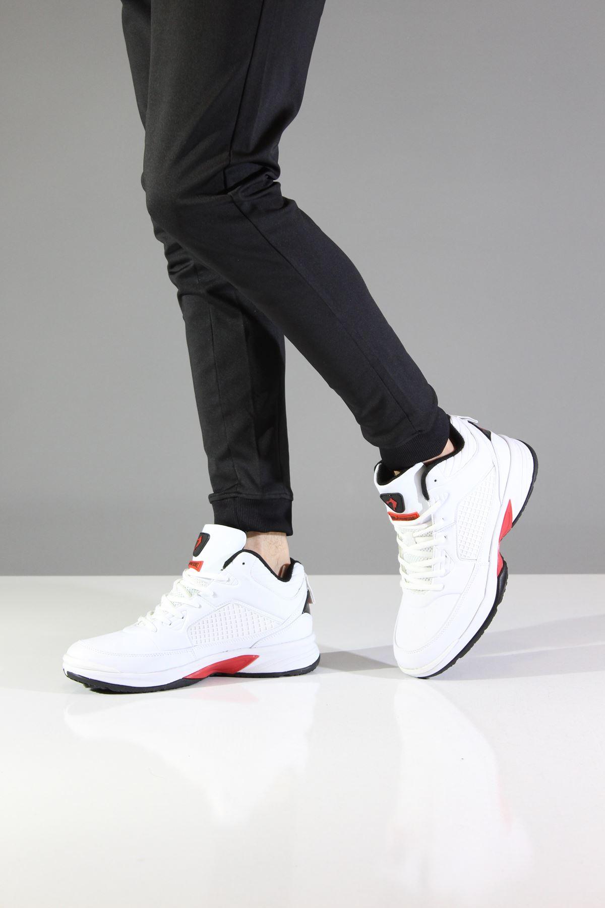 Jump Airflow 13872 Beyaz Kırmızı Erkek Spor Ayakkabı