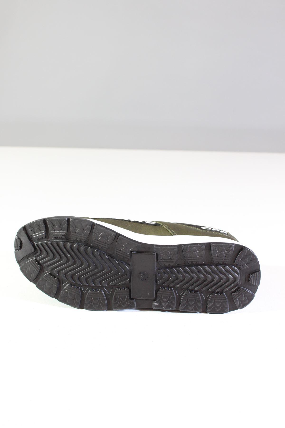 Wickers 2300 Haki-Siyah Nubuk Erkek Spor Ayakkabı