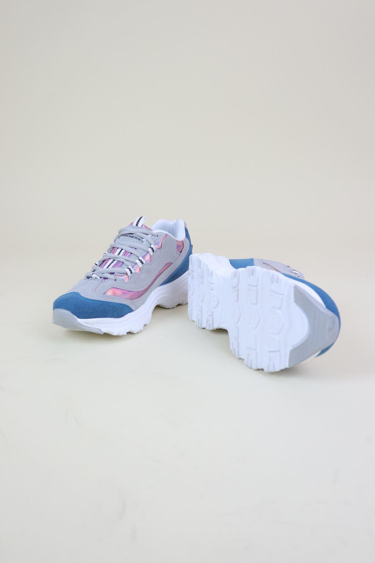 Trend Ayakkabı 0107 Mavi Kadın Spor Ayakkabı