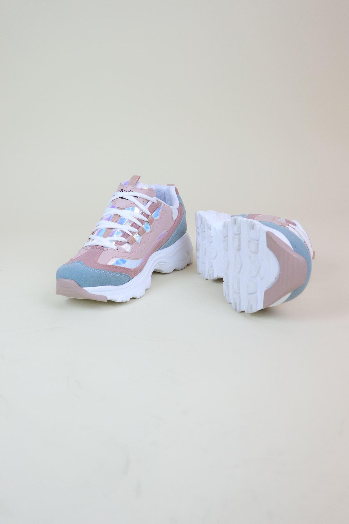 Trend Ayakkabı 0107 Pembe Kadın Spor Ayakkabı