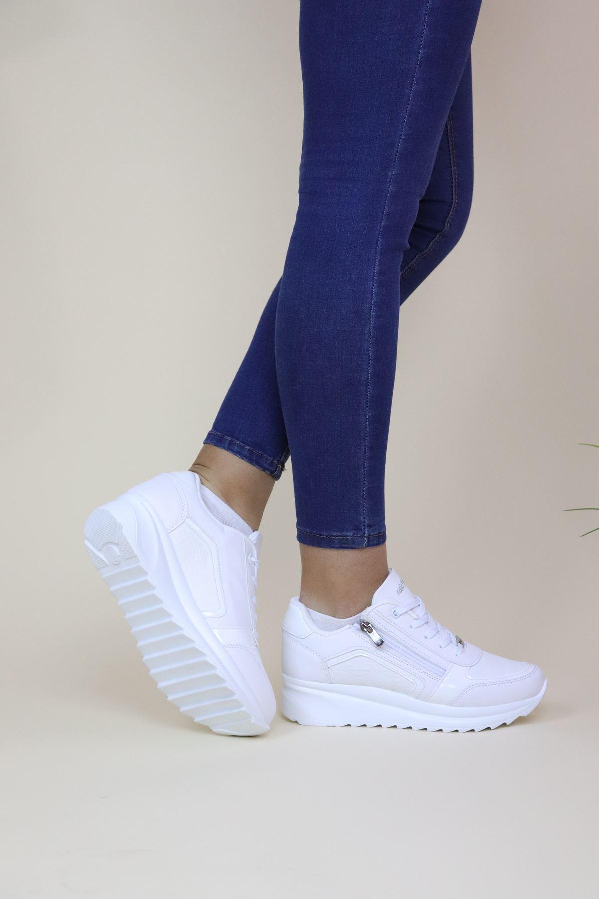 Wickers 2161 Zenne Beyaz Kadın Spor Ayakkabı