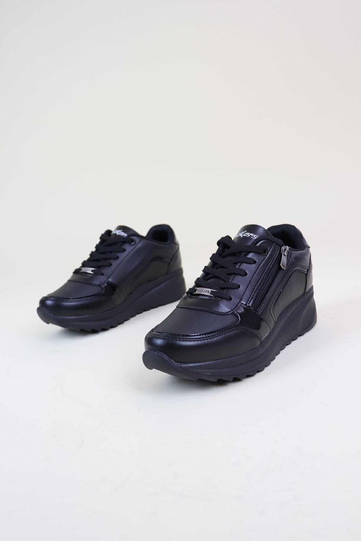 Wickers 2161 Zenne Siyah Kadın Spor Ayakkabı