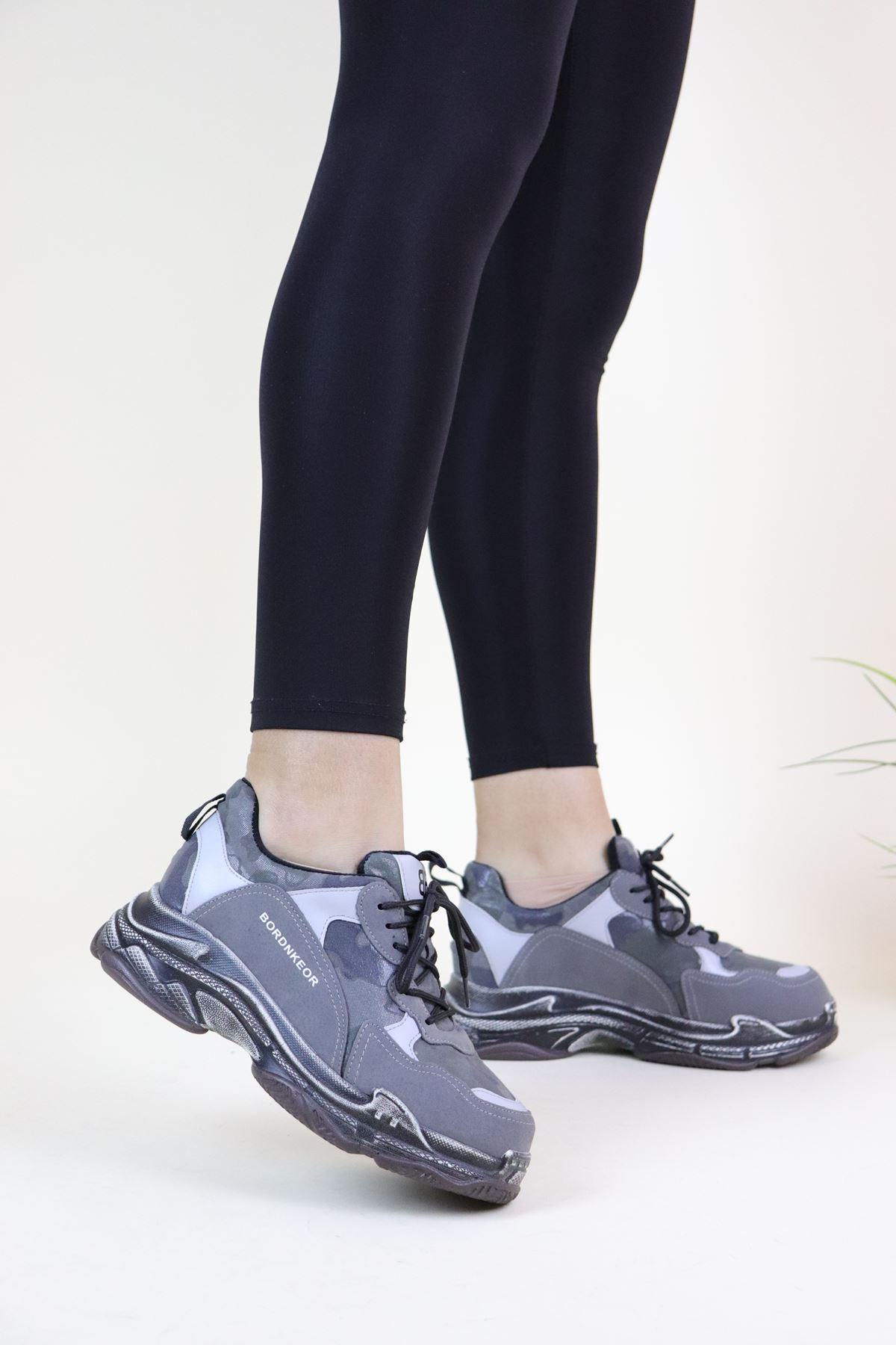 Guja Gri 19K300-5 Kadın Sneakers Ayakkabı