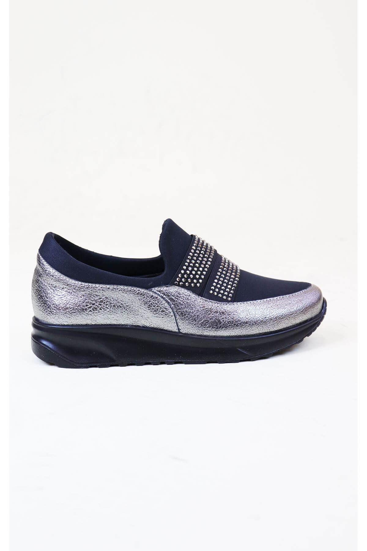 Trend Ayakkabı 1012 Siyah Kadın Düz Ayakkabı