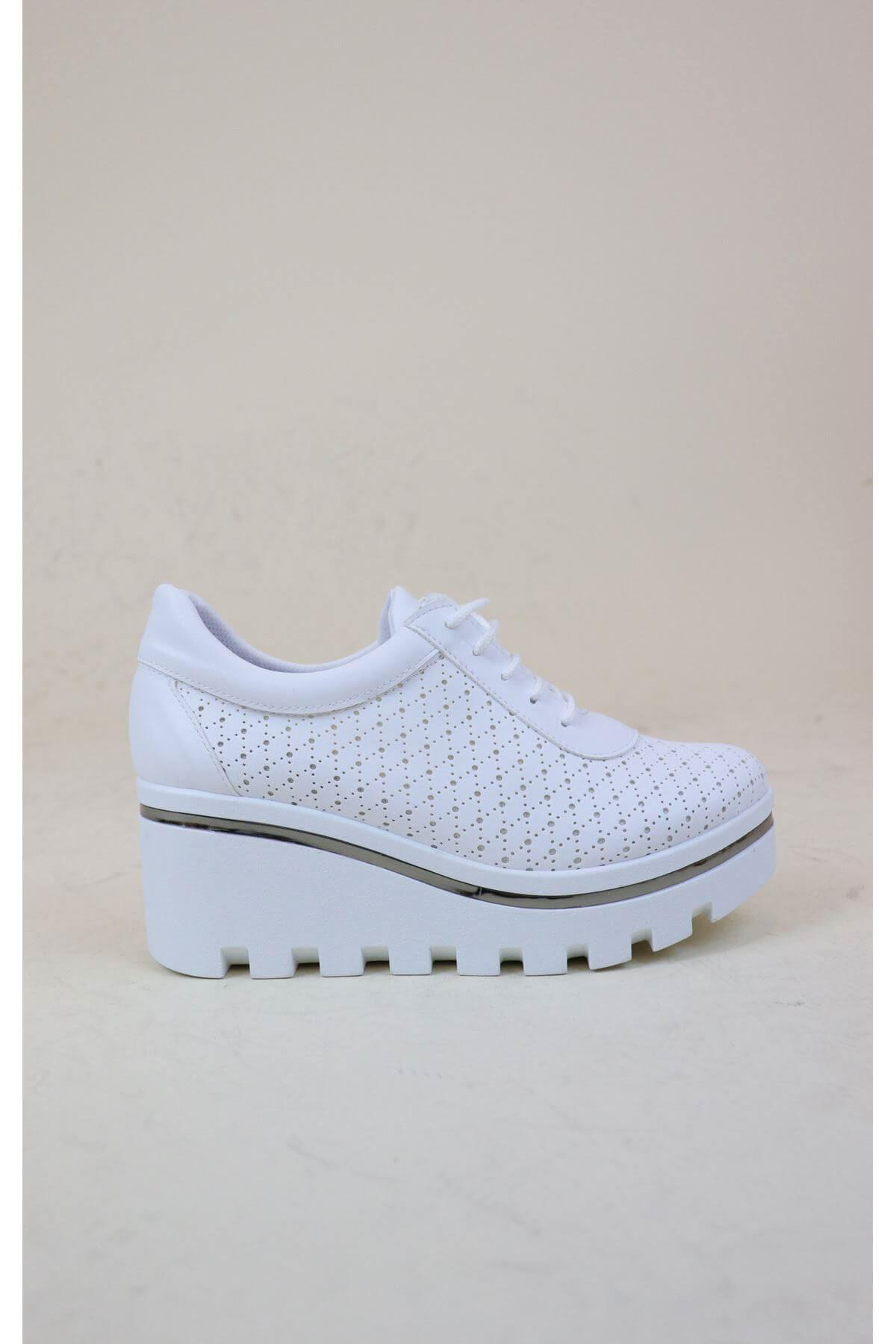 Trend Ayakkabı 1006 Kadın Dolgu Topuk Ayakkabısı