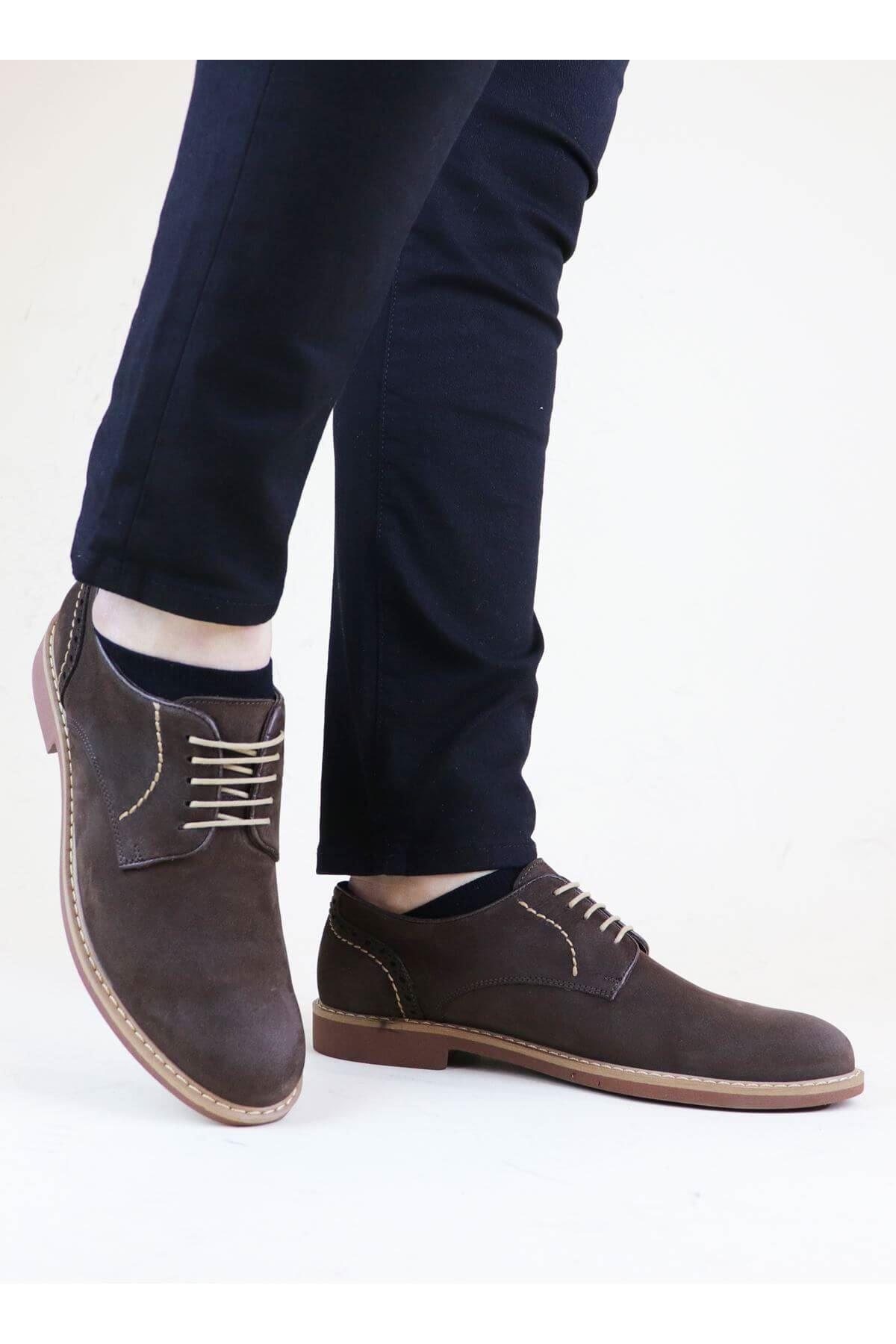 Free Foot 2650 Kahverengi Süet Hakiki Deri Erkek Ayakkabısı