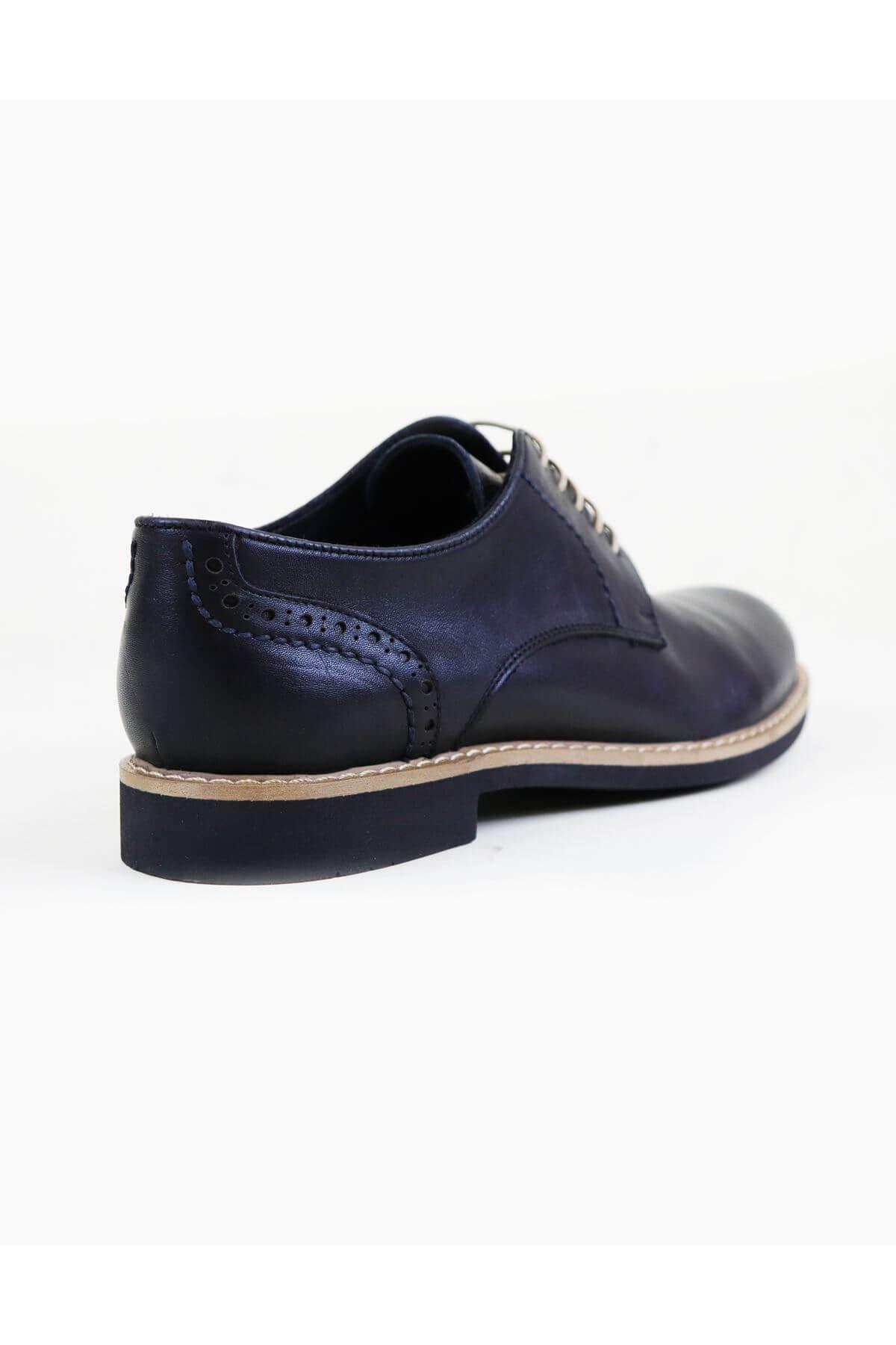Free Foot 2650 Siyah Mat Hakiki Deri Erkek Ayakkabısı