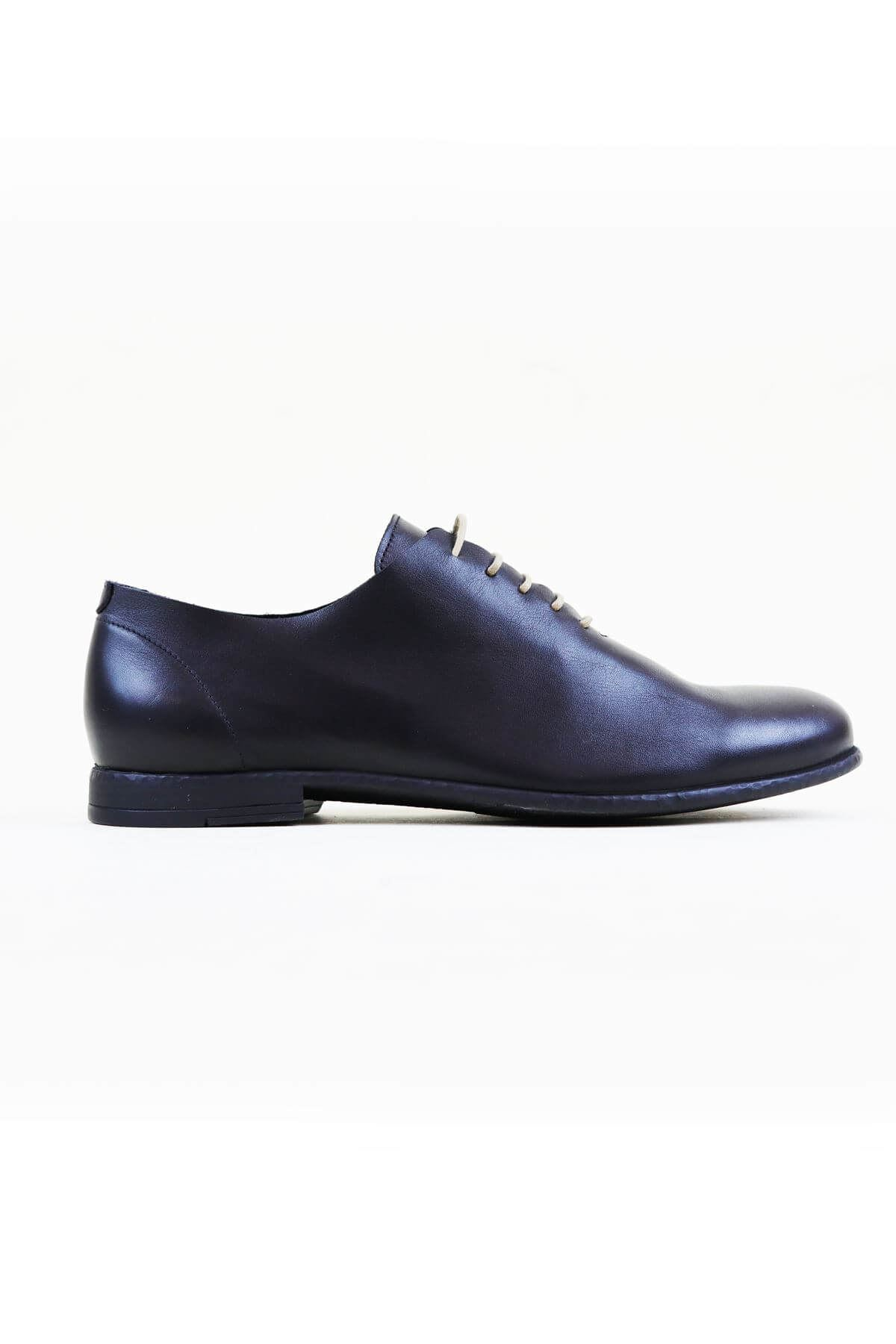 Free Foot 20350 Siyah Hakiki Deri Erkek Ayakkabısı
