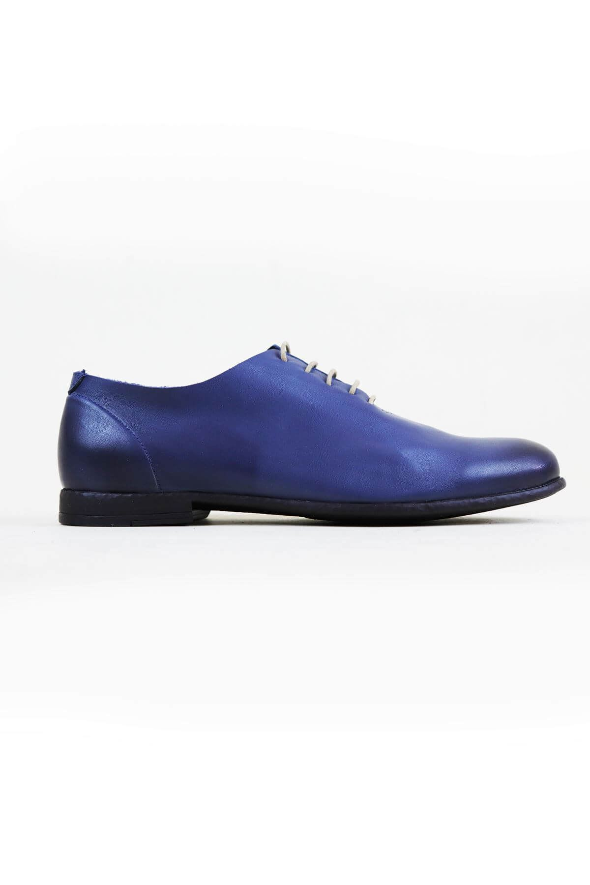 Free Foot 20350 Mavi Hakiki Deri Erkek Ayakkabısı