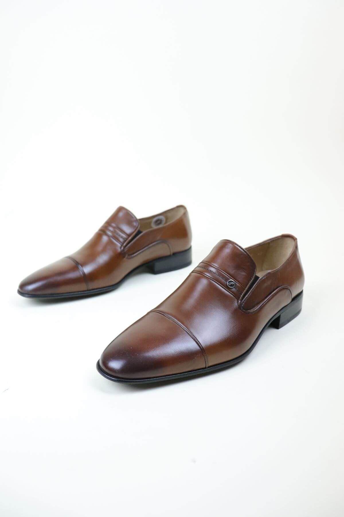 Fosco 9517 Taba  MR Klasik Neolit Erkek Ayakkabı