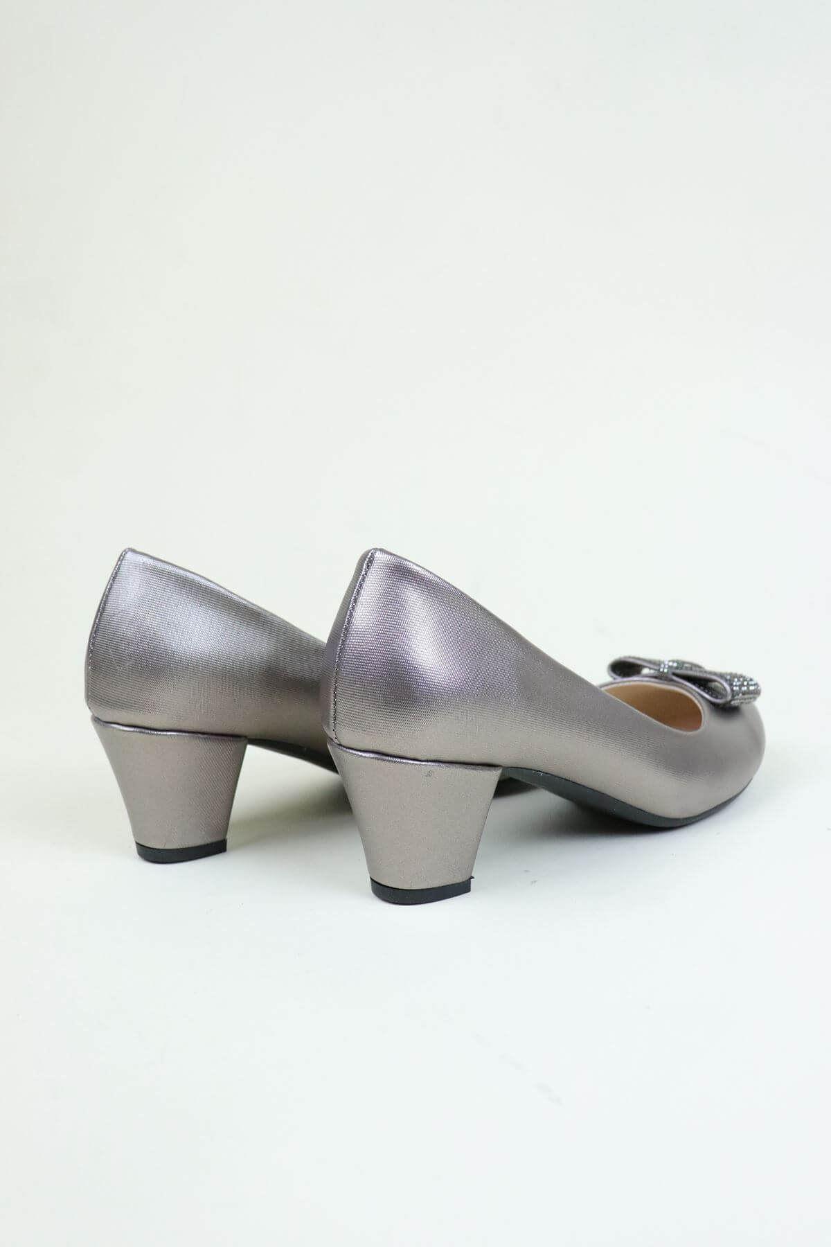 Trend Ayakkabı 0137 Platin Taşlı Kadın Ayakkabı