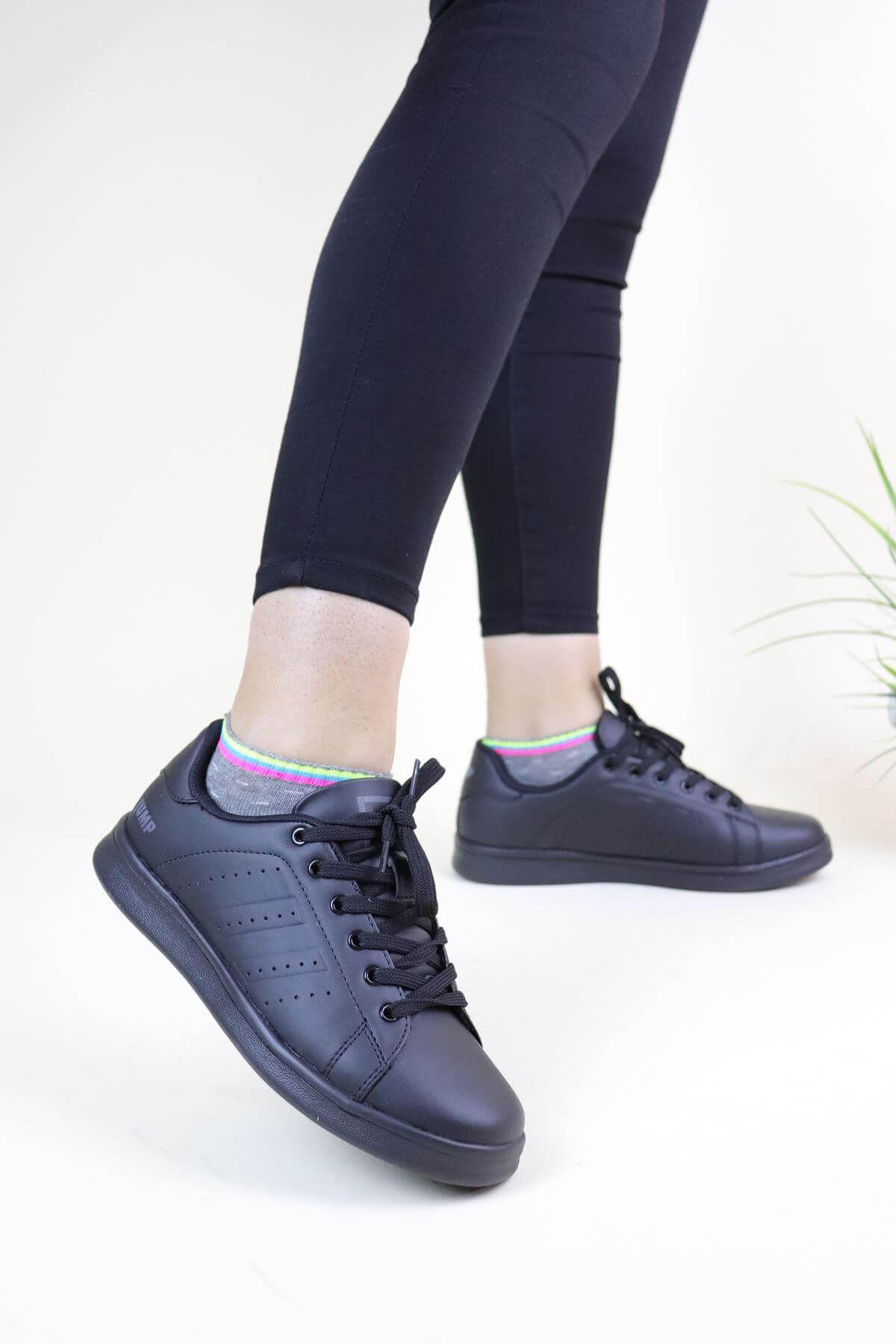 Jump 15306 Siyah Kadın Spor Ayakkabı