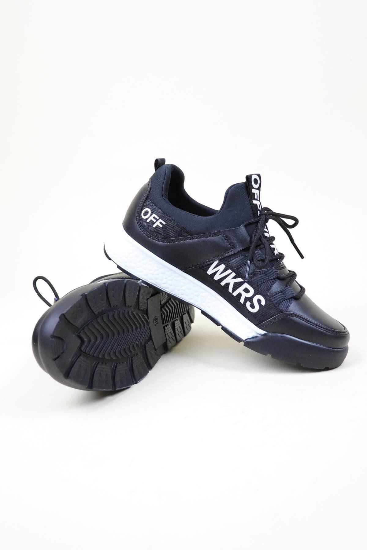 Wickers  2300 Siyah-Beyaz Kadın Spor Ayakkabı