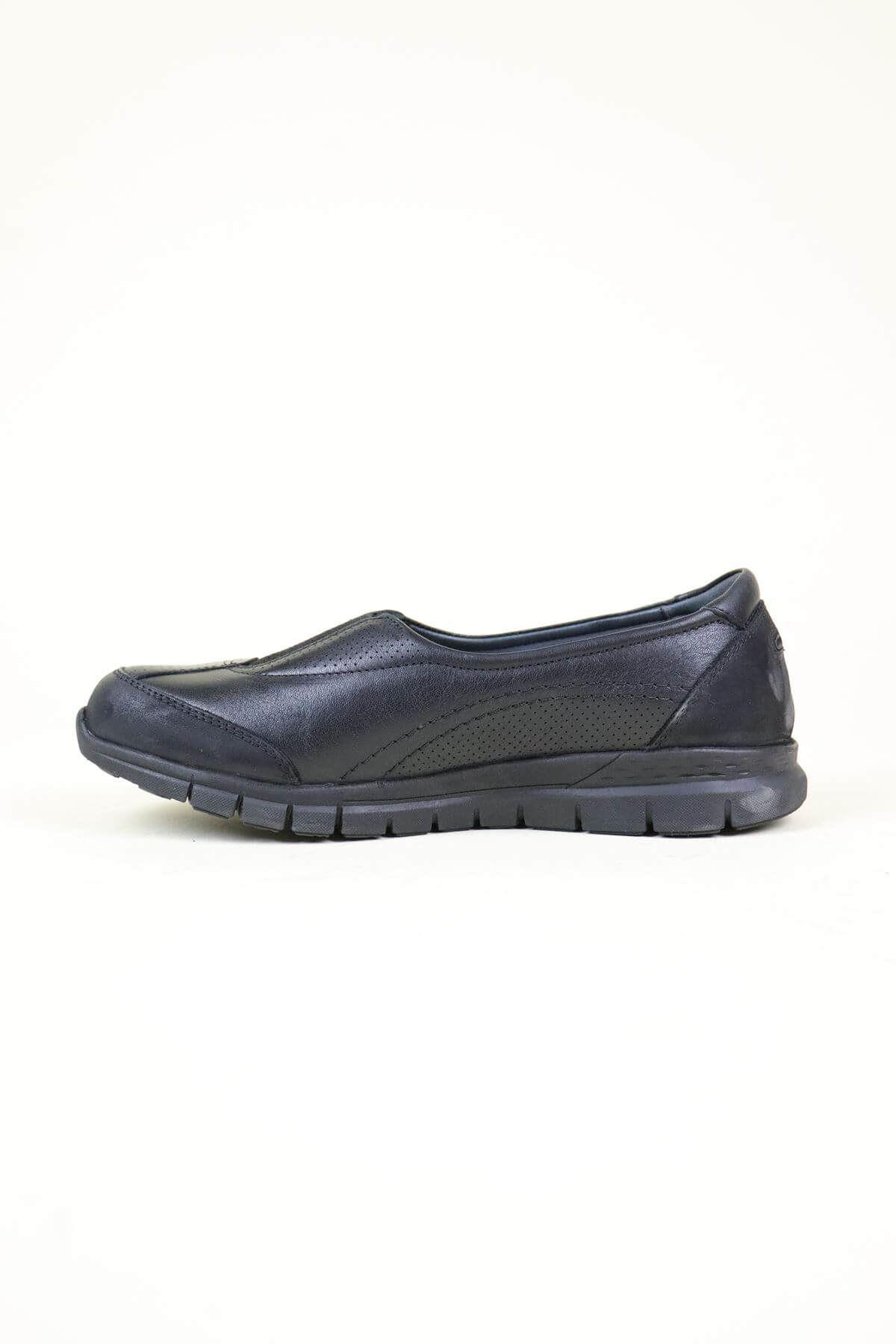 Forelli 29443 Siyah  Ortopedik Kadın Ayakkabı