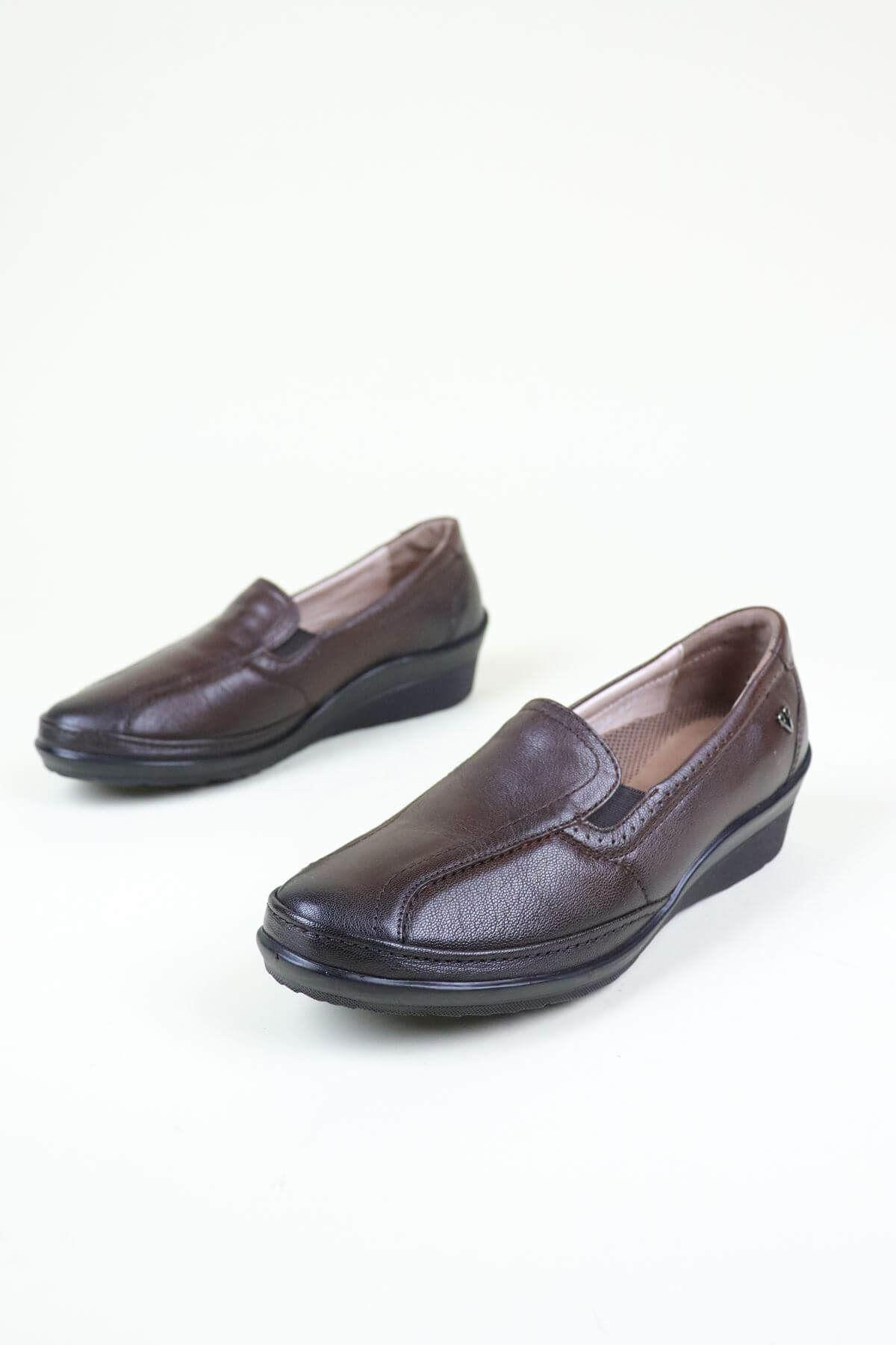 Forelli 26205 Kahve Kadın Ortopedik Ayakkabı