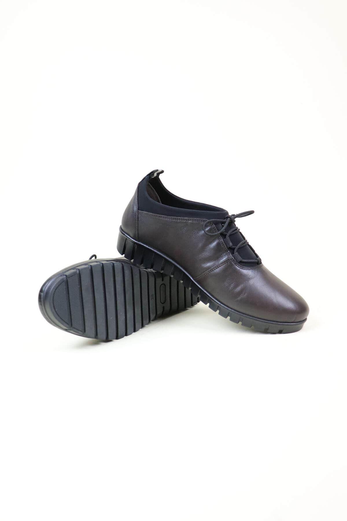 Capella  3008 Siyah Analin Ortopedik Kadın Ayakkabı