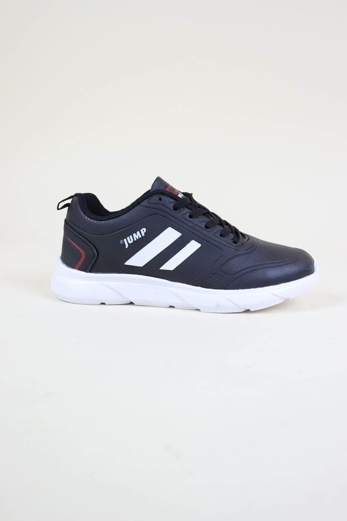 Jump 24068 Siyah-Beyaz Kadın Spor Ayakkabı