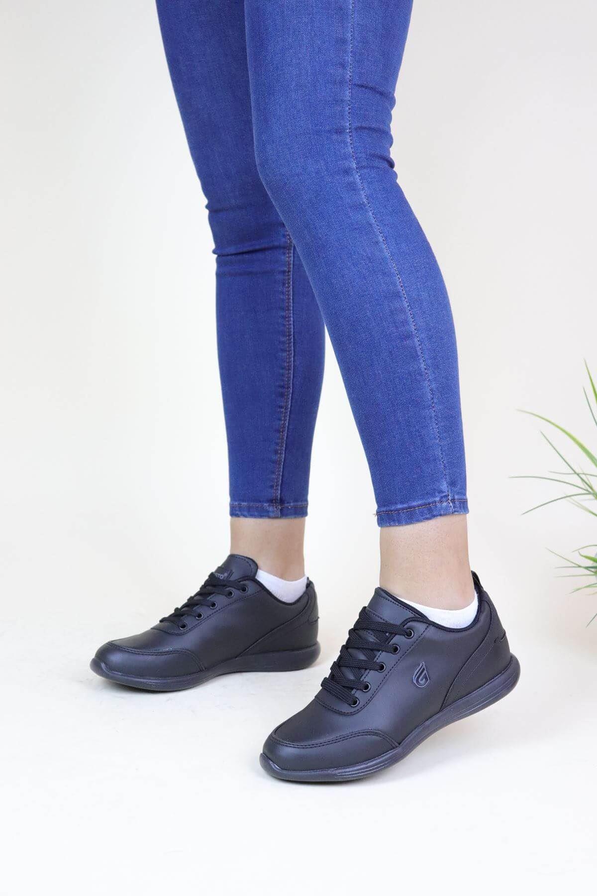 Trend Ayakkabı 632 Siyah Kadın Spor Ayakkabı