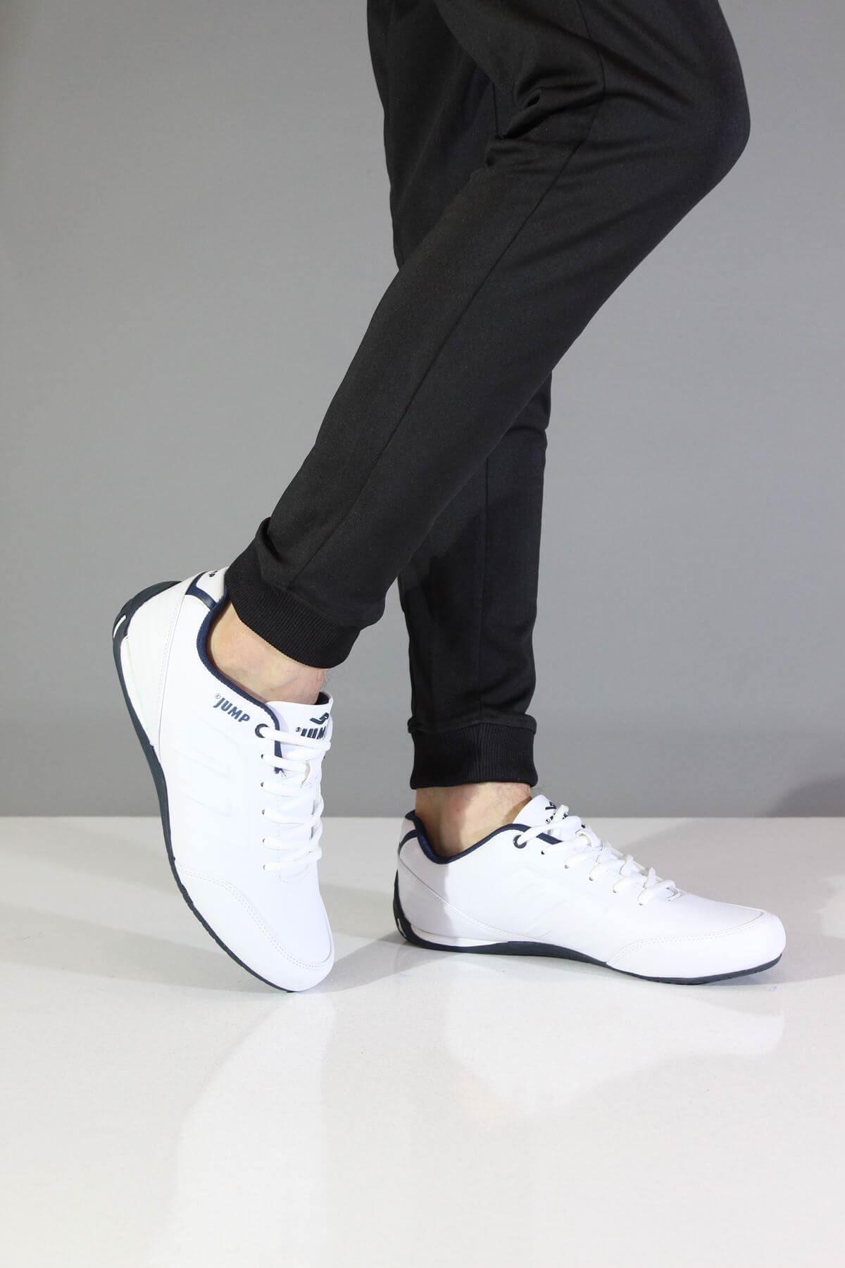 Jump 11743 Beyaz Erkek Spor Ayakkabı