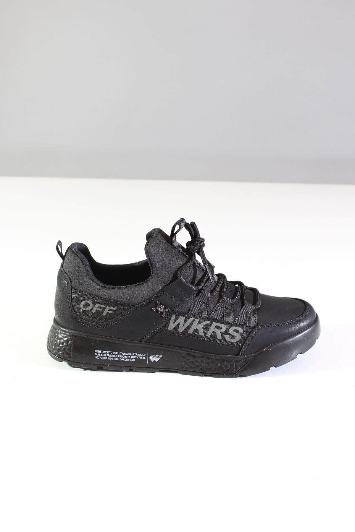 Wickers 2300 Siyah Nubuk Erkek Spor Ayakkabı