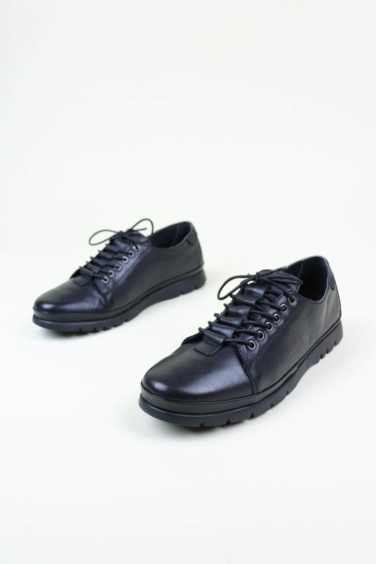 Venüs 1813622K Siyah Hakiki Deri Günlük Kadın Ayakkabı