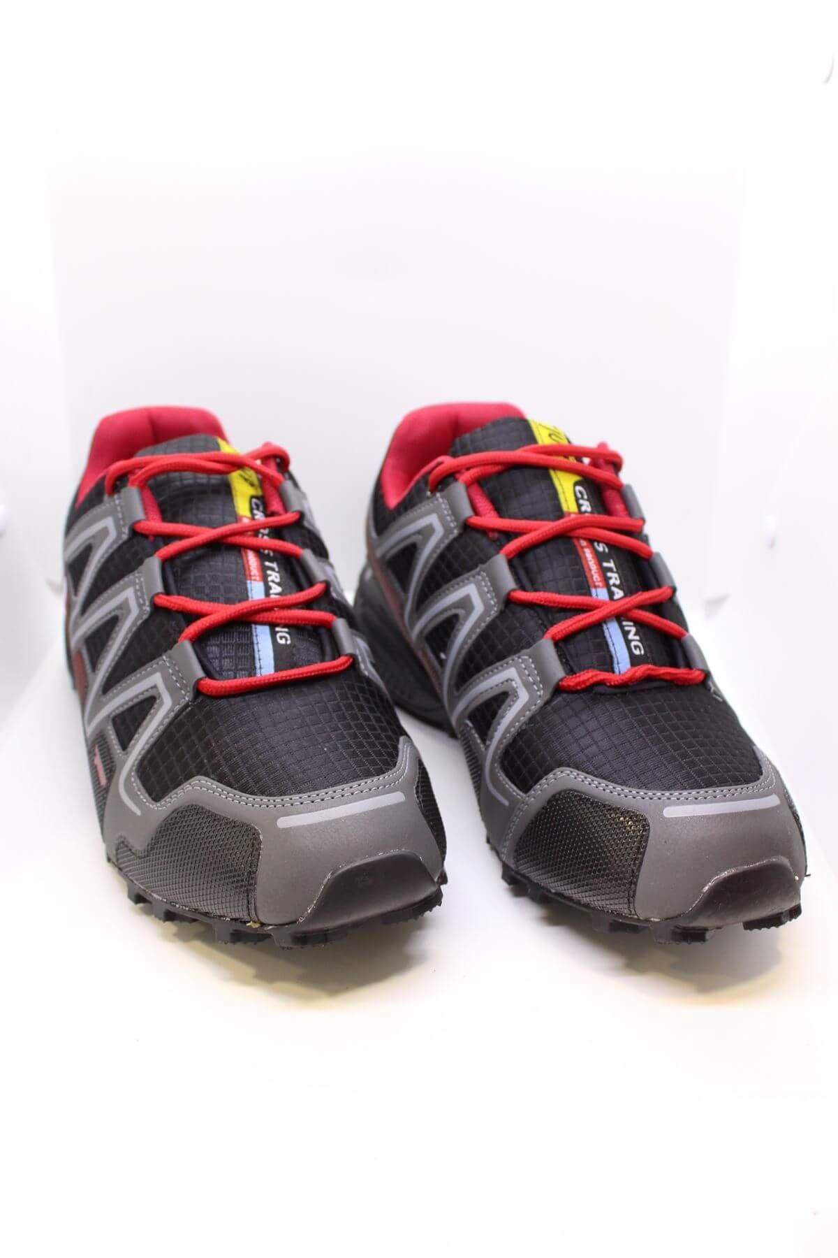 Jump  21513 Siyah Kırmızı Erkek Spor Ayakkabı