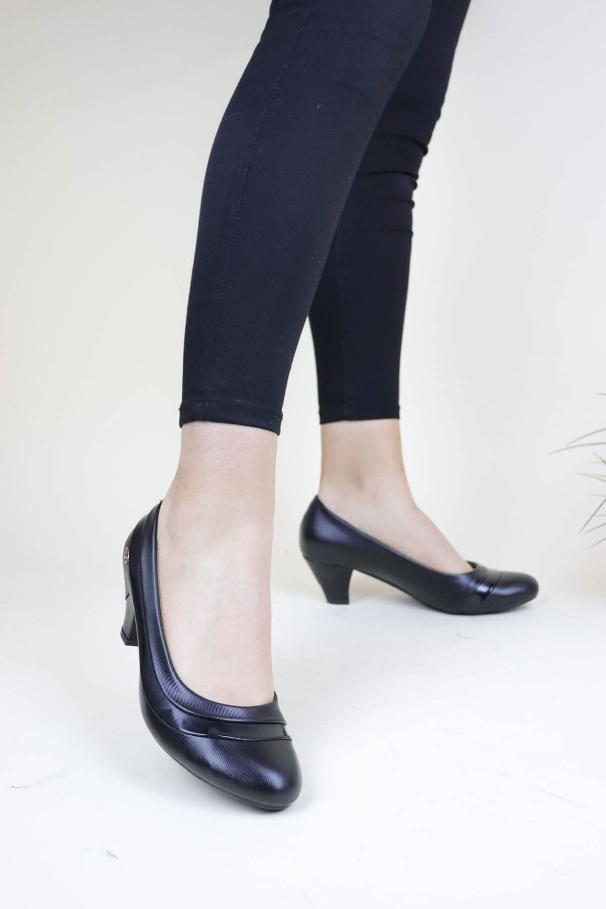 De Scario 0136 Siyah Kadın Ayakkabı