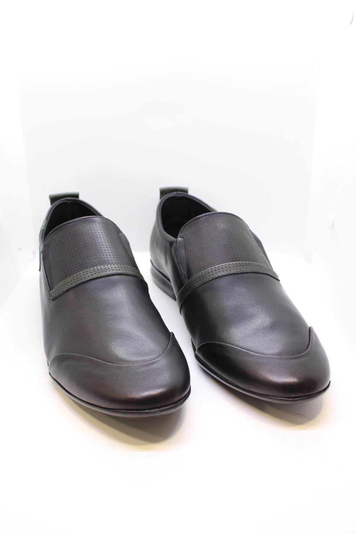 James Franco 812 Bagsız Siyah Hakiki Deri Casual Ayakkabı