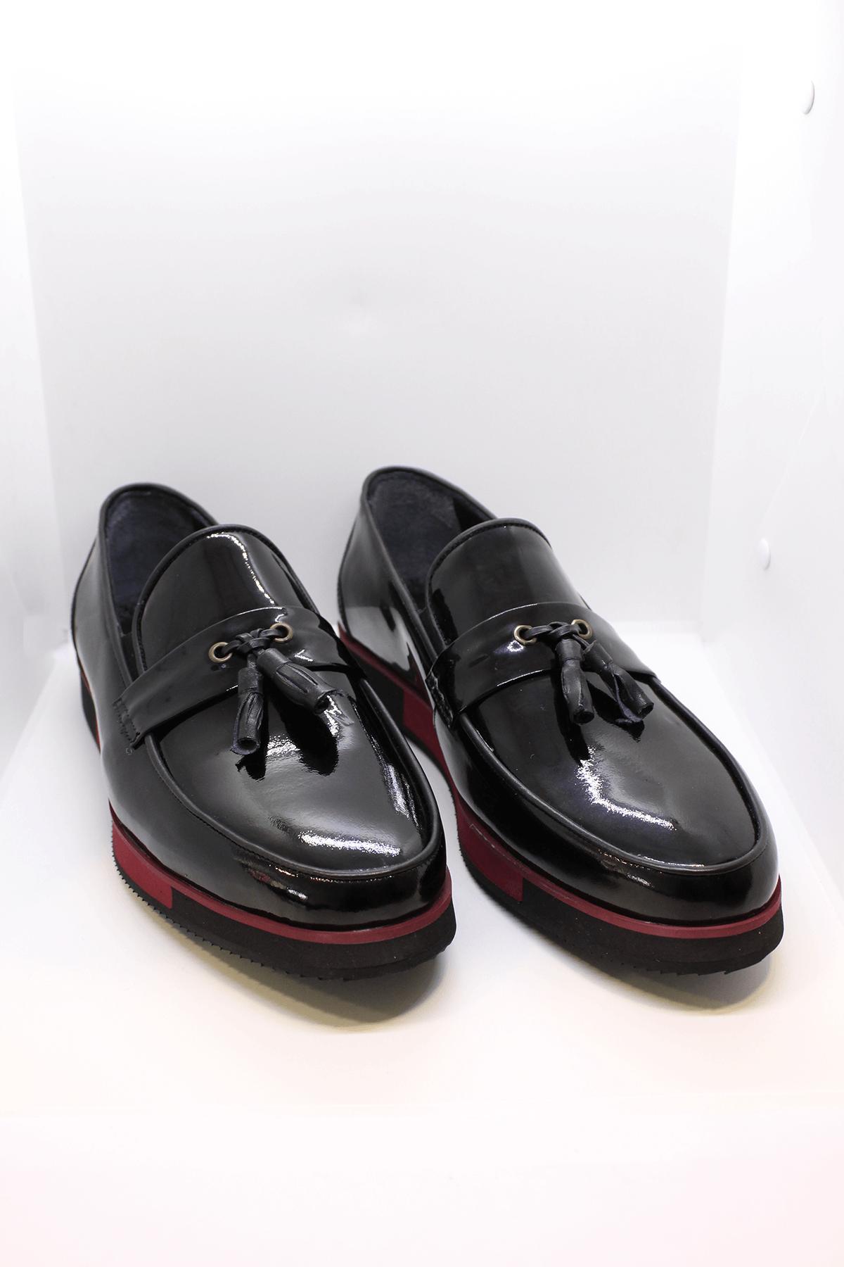 Nevzat Zöhre 1418 Hakiki Deri Siyah Casual Ayakkabı
