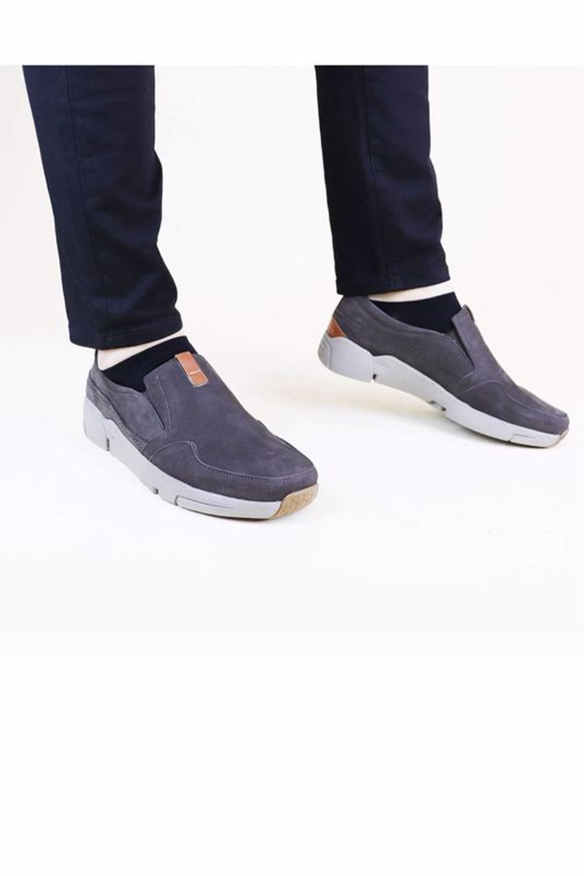 Free Foot 4103 Kahverengi Hakiki Deri Erkek Ayakkabısı