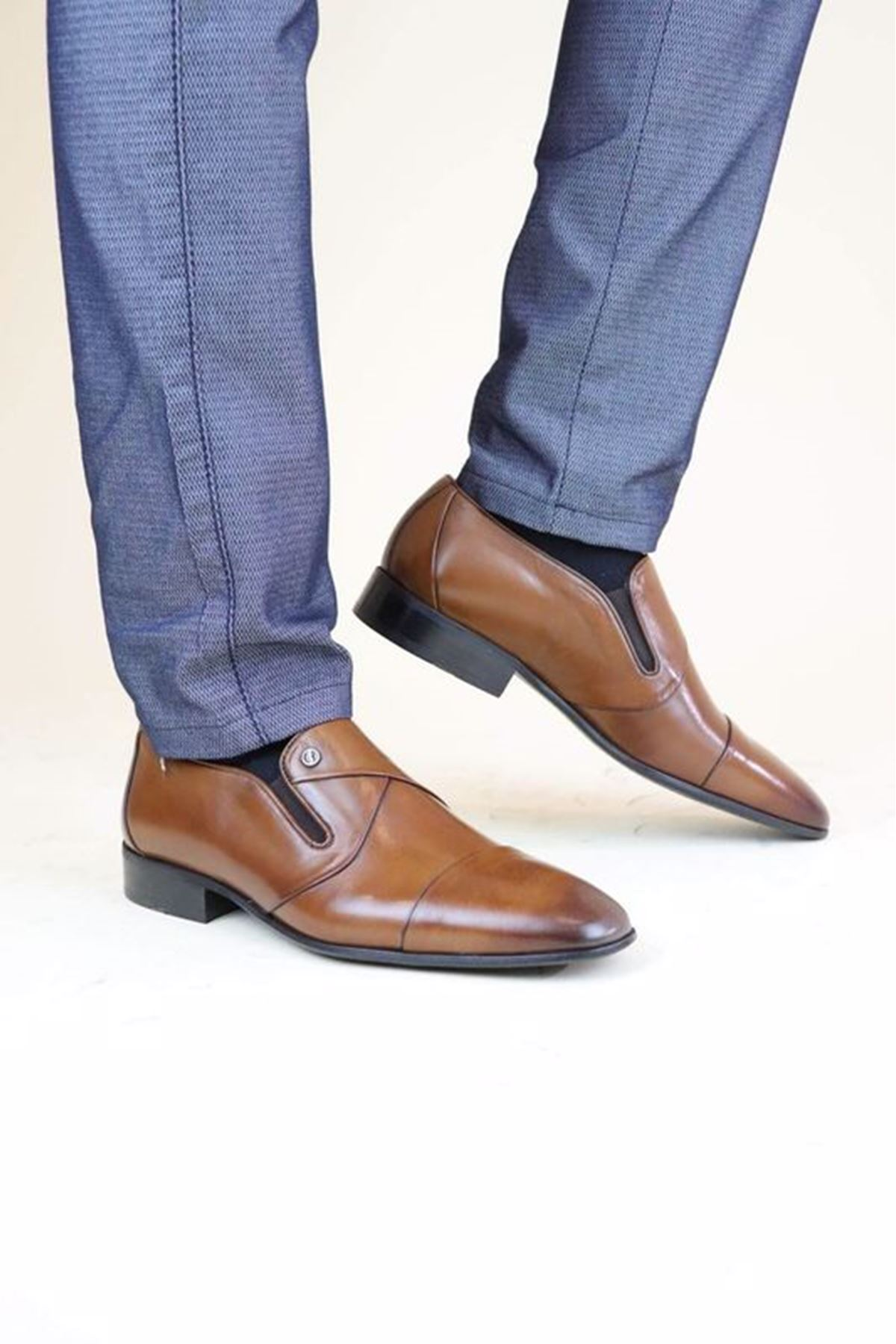 Fosco 9506 Taba MR Klasik Neolit Erkek Ayakkabı