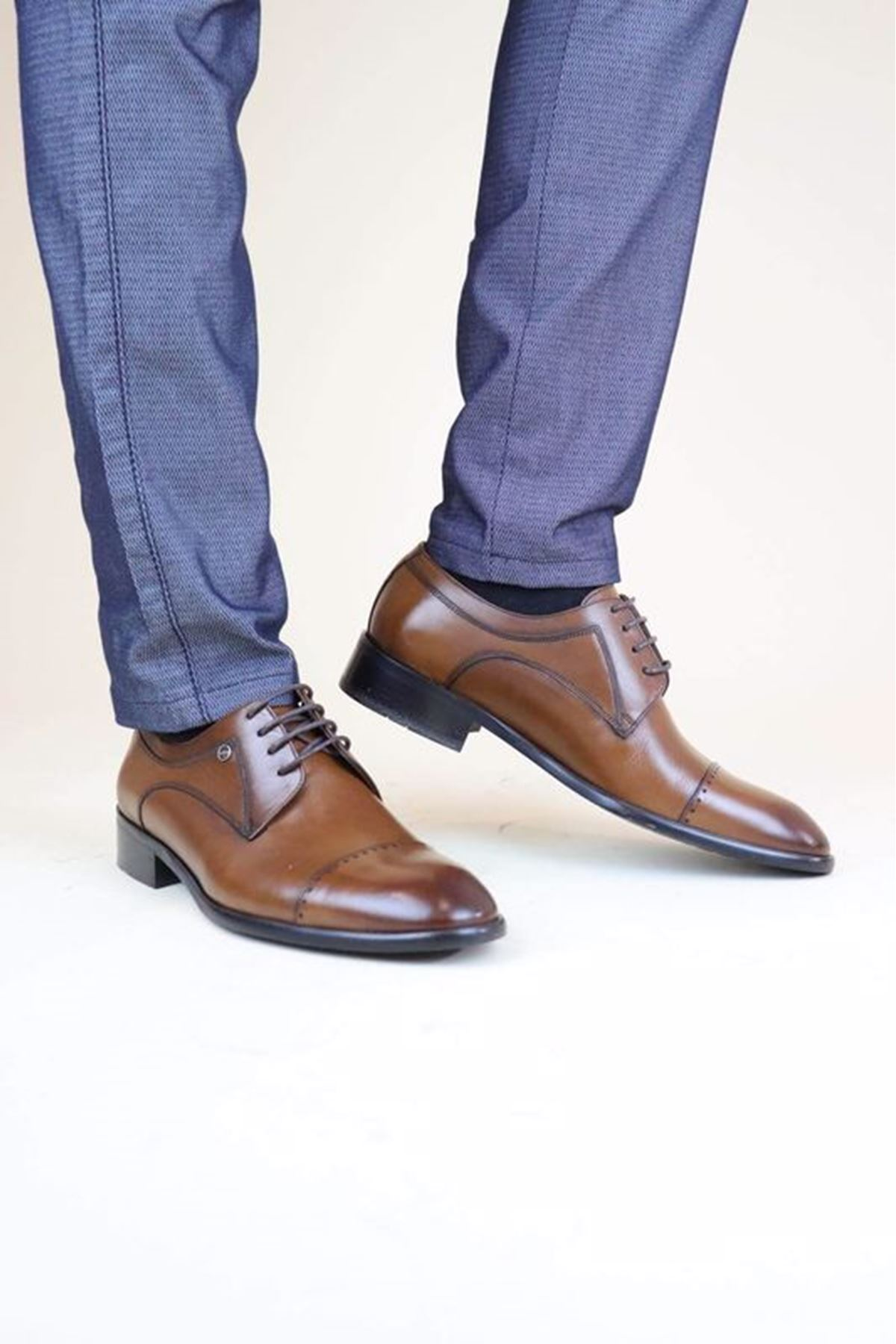 Fosco 9136 Taba Lazer BSK MR Klasik Neolit Erkek Ayakkabı