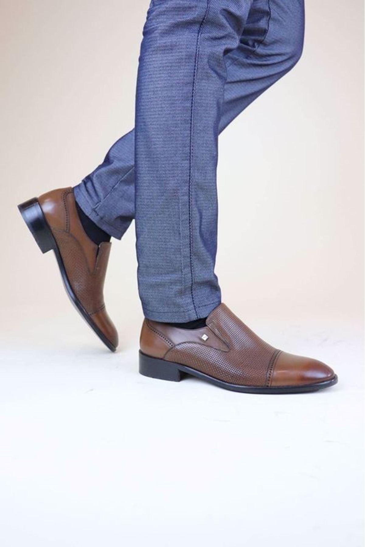 Fosco 8615 Taba Lazer BSK MR Klasik Neolit Erkek Ayakkabı