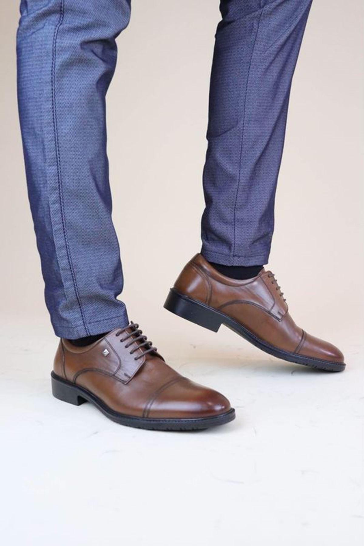 Fosco 8589 Taba  MR Klasik Kauçuk Erkek  Ayakkabı