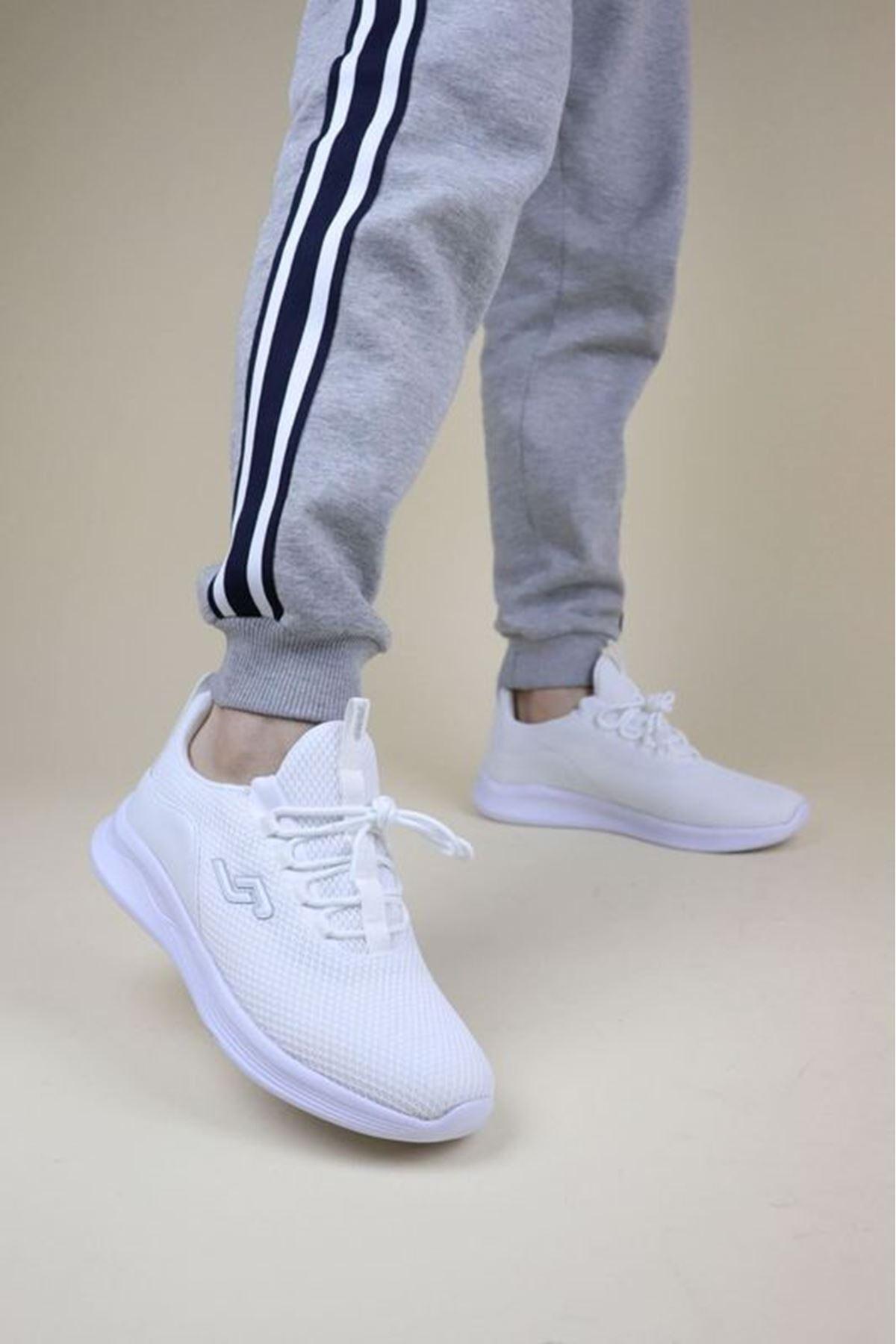 Jump 24784 Beyaz Erkek Spor Ayakkabı