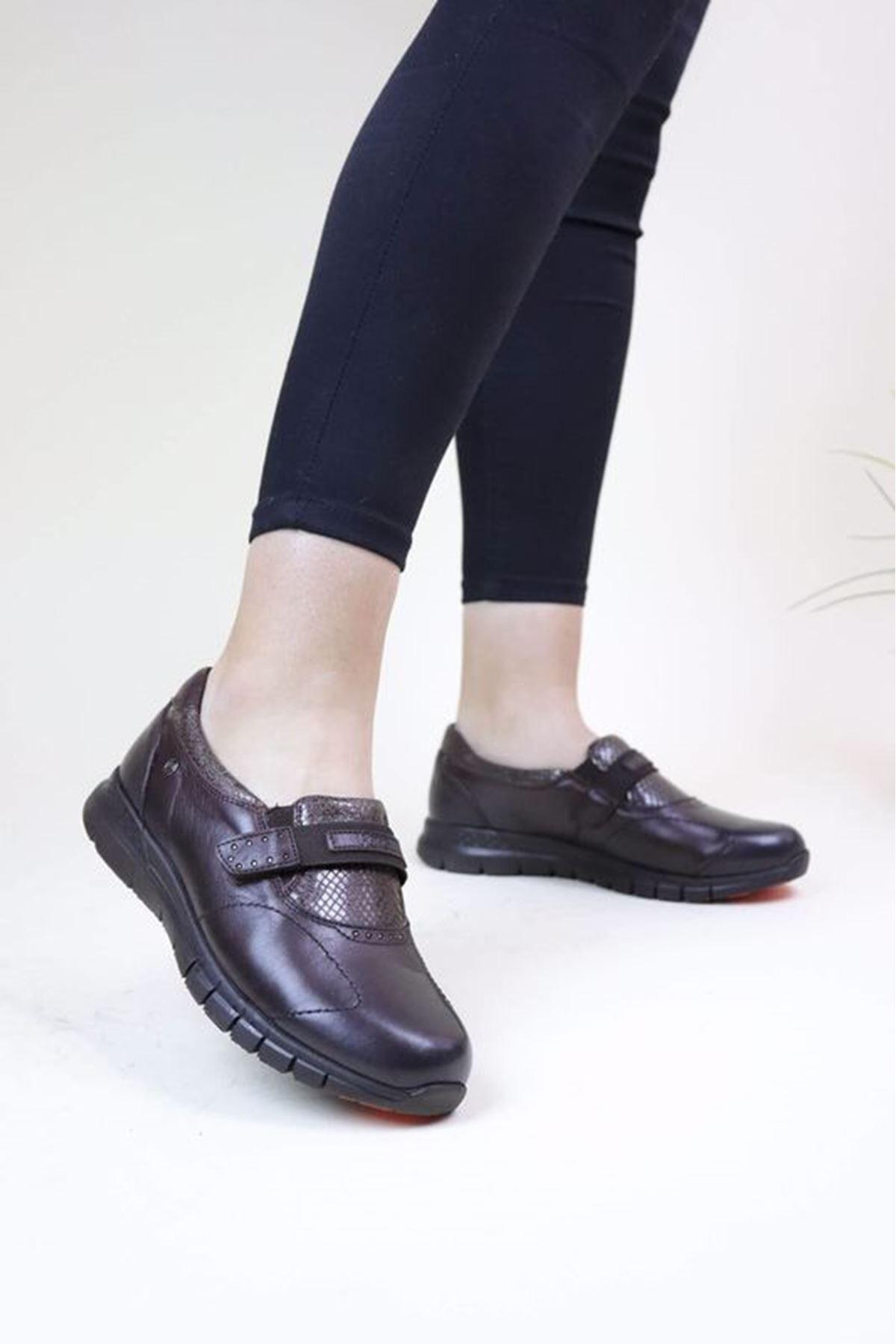 Forelli 29422 Kahve Kadın Ortopedik Ayakkabı
