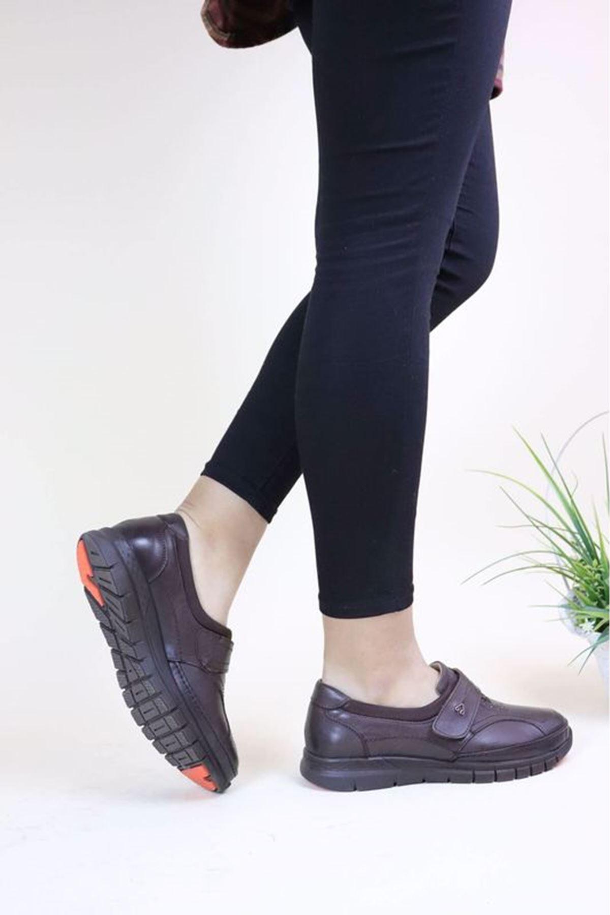 Forelli 29445 Kahve Kadın Ortopedik Ayakkabı