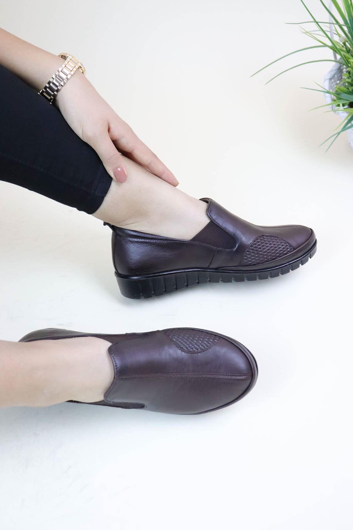 Capella Olga 5 Kahve Analin  Kadın Ortopedik Ayakkabı