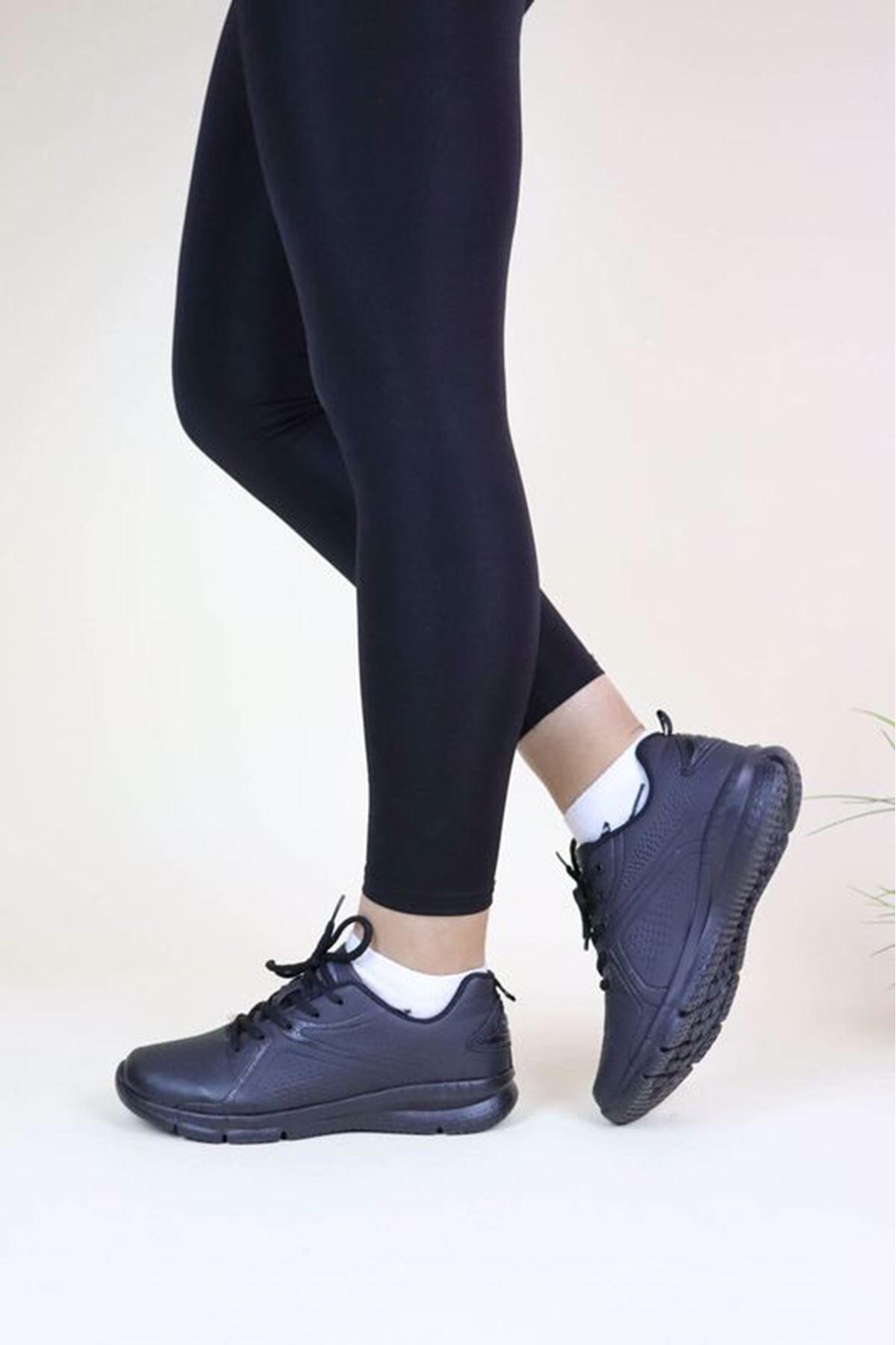 Jump 24065 Siyah Kadın Spor Ayakkabı