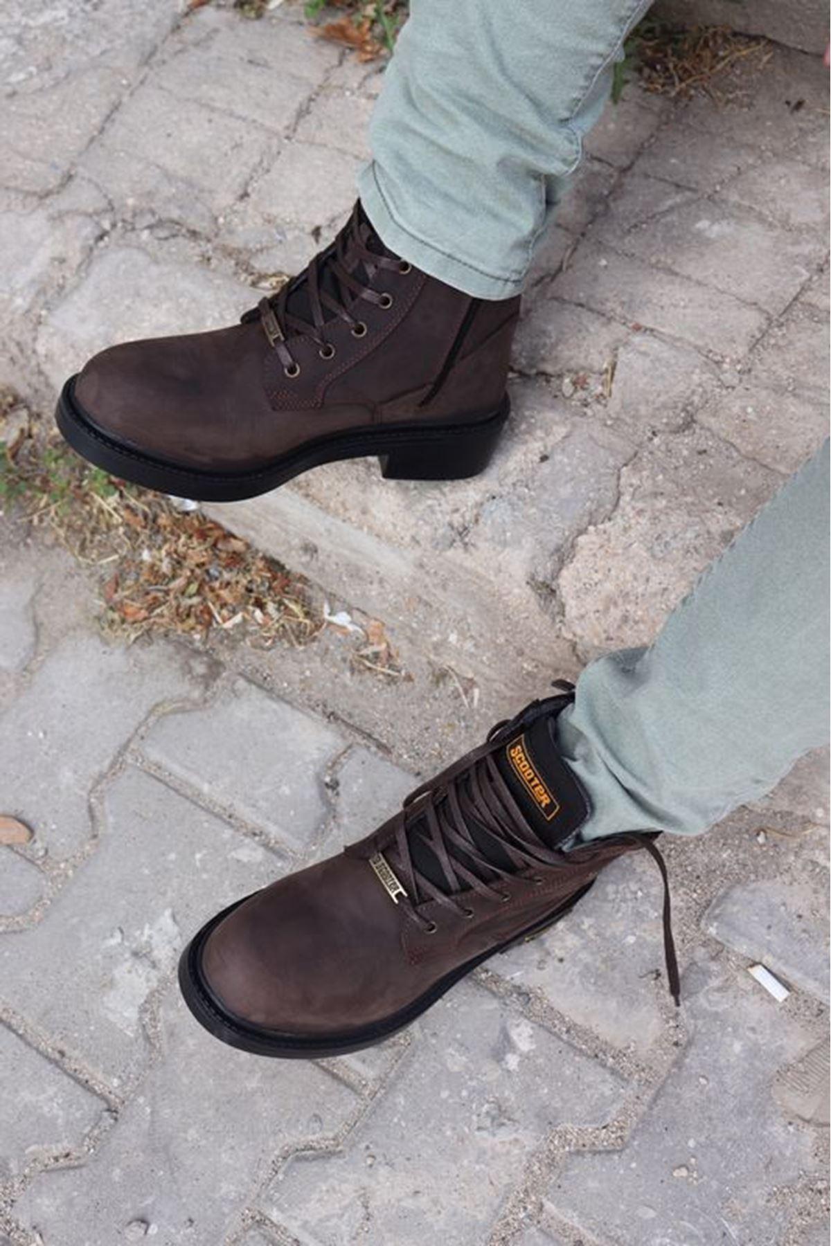 SCOOTER- M5121CKO- KAHVERENGİ ERKEK BOT