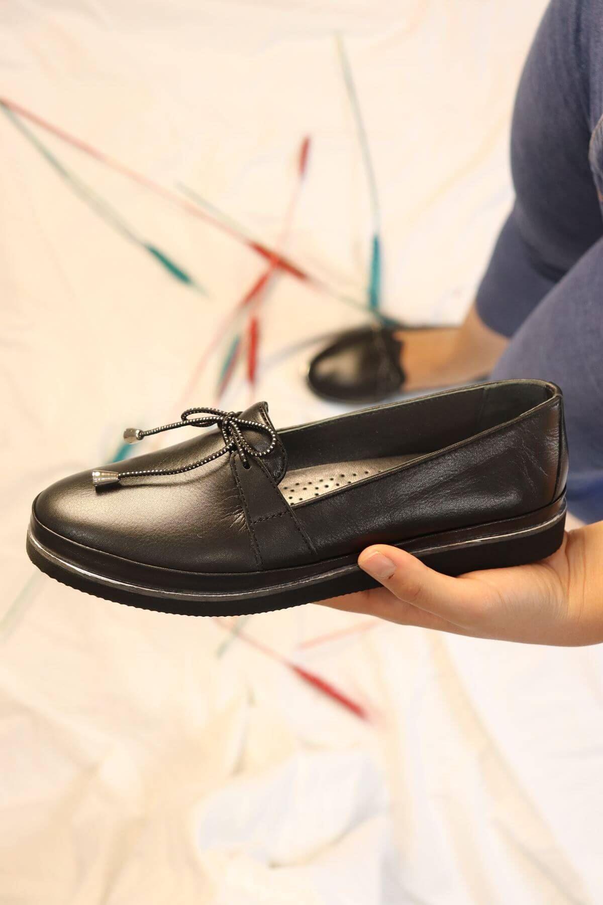 Marine Shoes - 20K - 019 - K104  Siyah Casual Kadın Ayakkabı