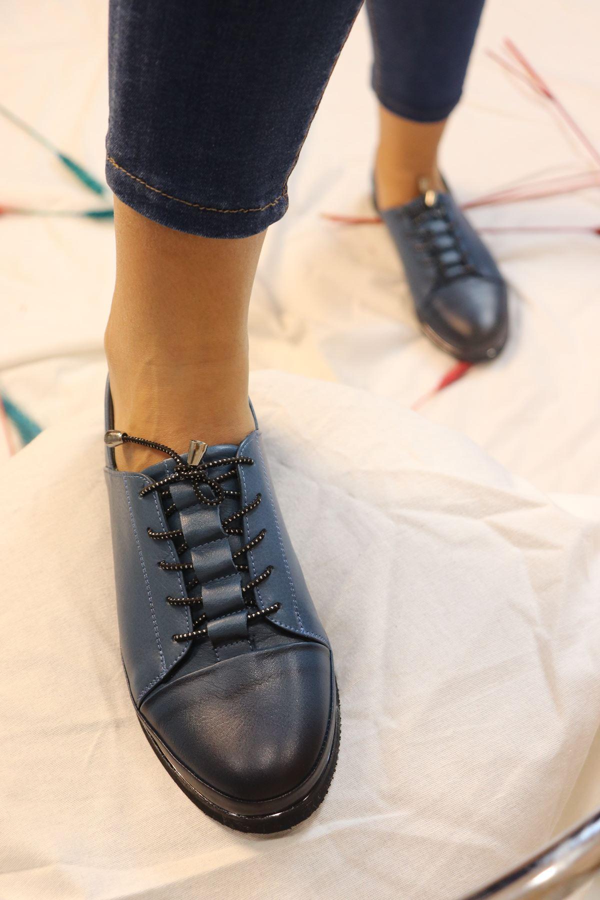 Marine Shoes - 20K - 019 - K196 Mavi Casual Kadın Ayakkabı
