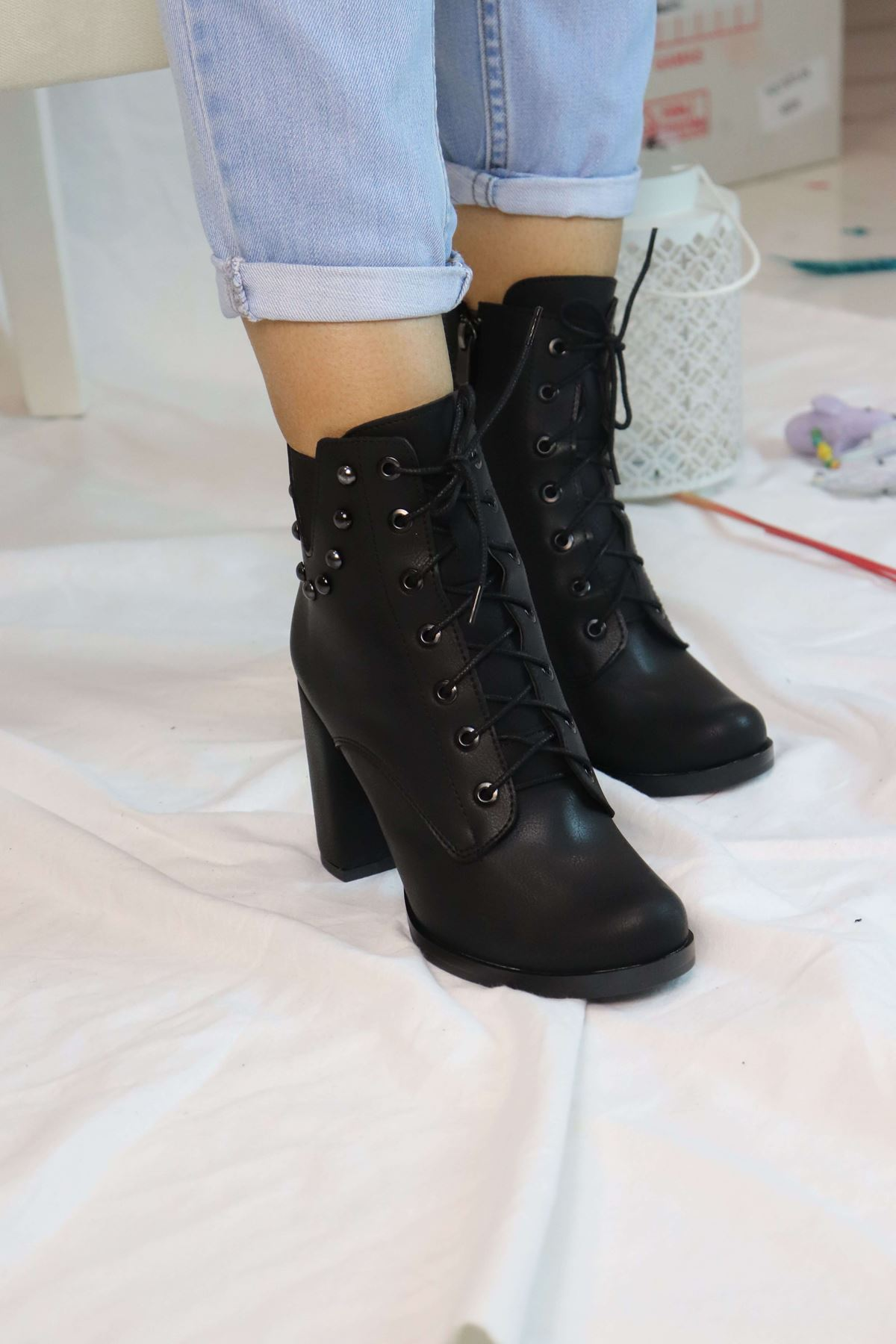 Trendayakkabı - Topuklu Kadın Bot