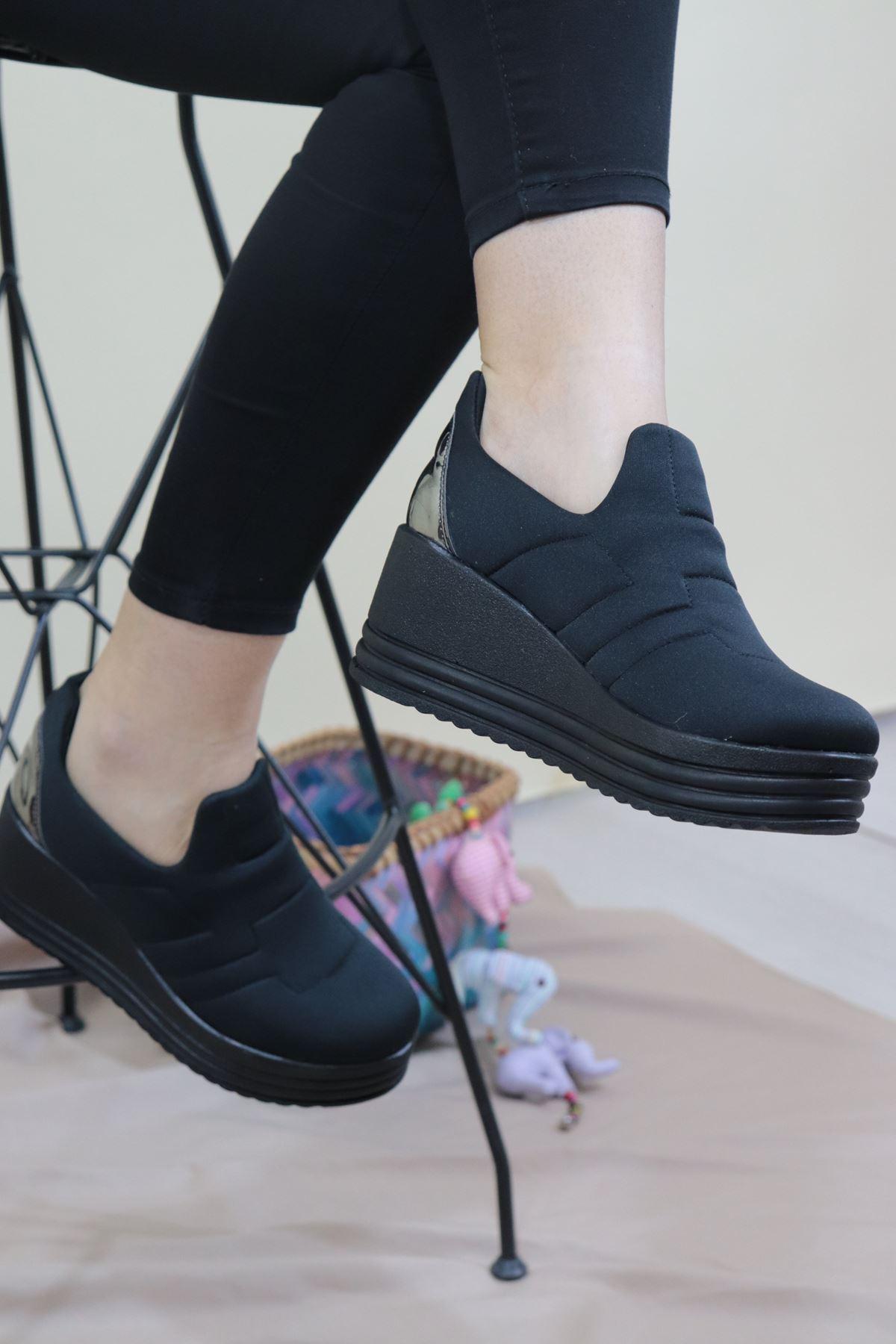 Trendayakkabı - Streç Kadın Dolgu Ayakkabı