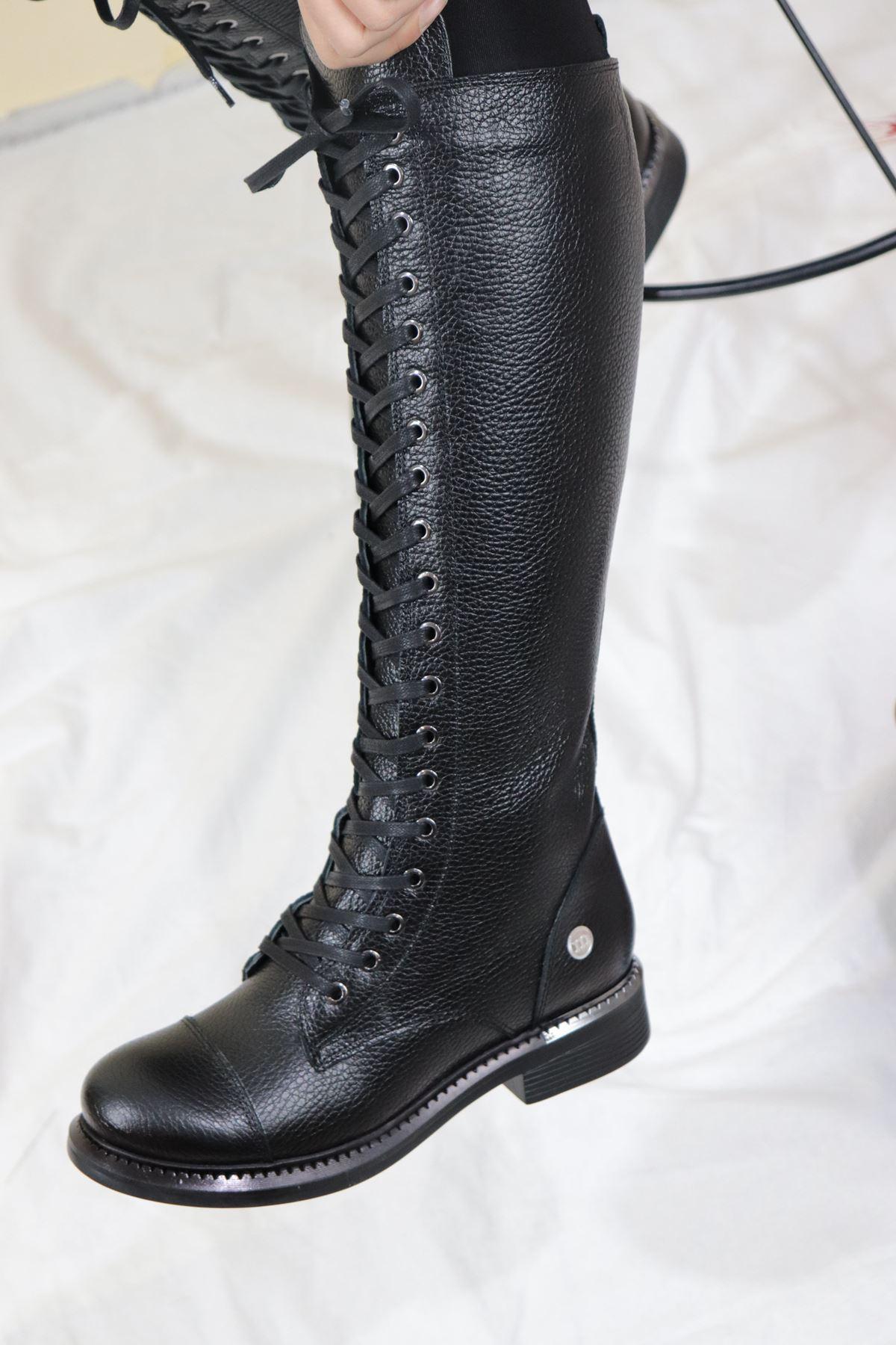 Mammamia - D20KC-2030 Siyah Kadın Çizme