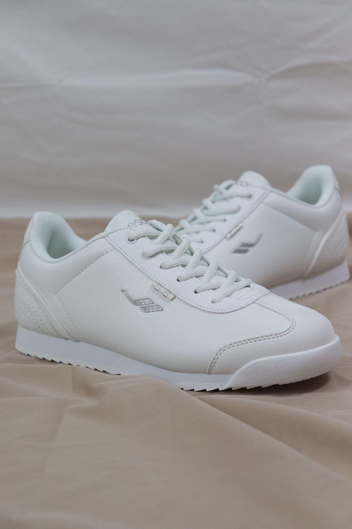 LESCON - WİNNER-3 Beyaz Erkek Spor Ayakkabı