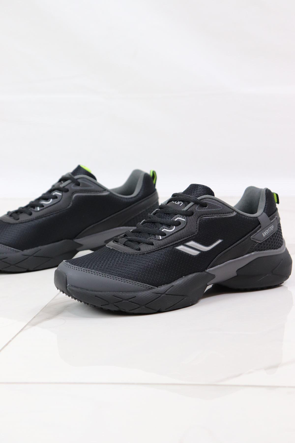 LESCON - EASYSTEP CHROME Siyah Erkek Spor Ayakkabısı