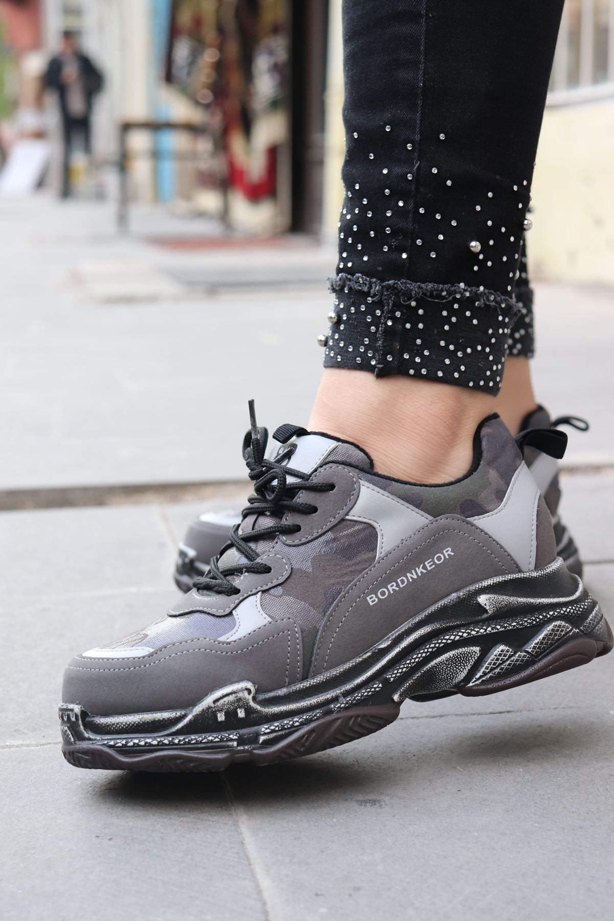 Guja - Gri Kadın Sneakers