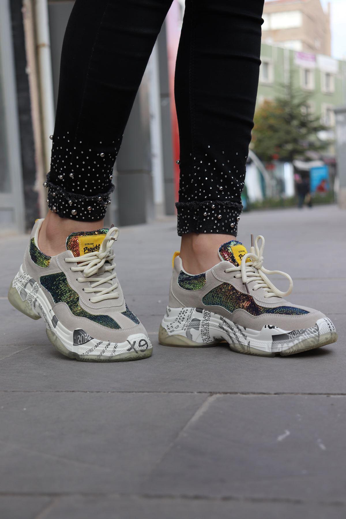 Guja - Bej Rengi Kadın Sneakers