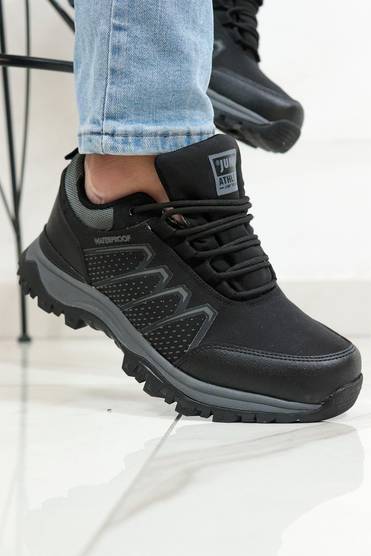 Jump - 25686 - Siyah Su Geçirmez Erkek Spor Ayakkabısı